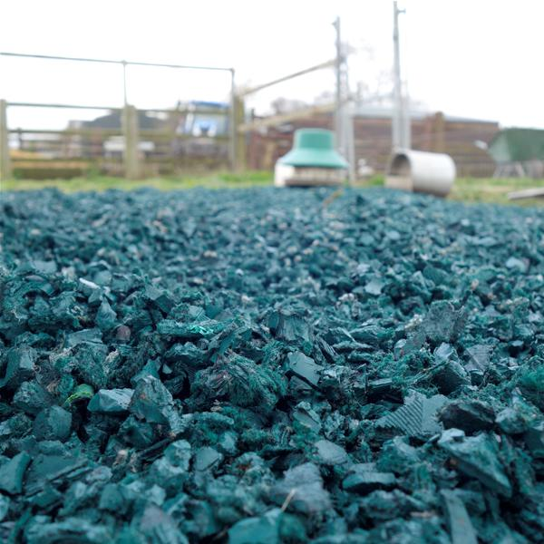 Play Area Rubber Chippings Green image