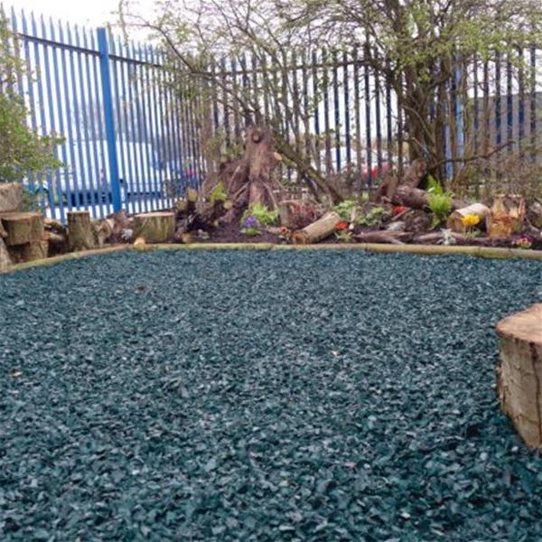 Play Area Rubber Chippings Green