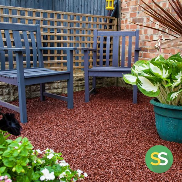 Play Area Rubber Chippings Maroon